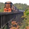 Tren sobre el puente