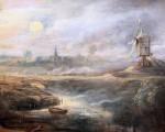 Paisaje por la tarde de luna llena con el cazador, Pierre Paul Rubens