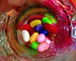 Vaso con caramelos