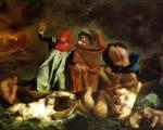 Dante y Virgilio en los infiernos